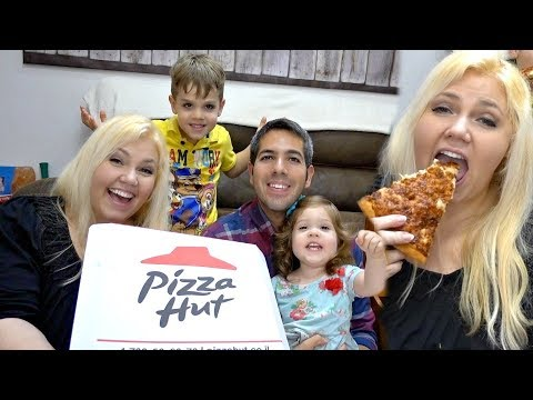 Family Mukbang Pizza Hut in Israel - Eat With Us