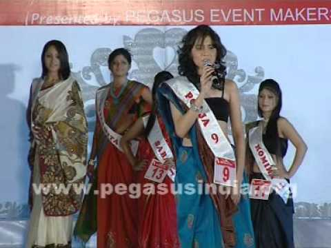 Pooja Bhamrah  Miss queen of India in introduction round of Manappuram Miss Queen of Indi