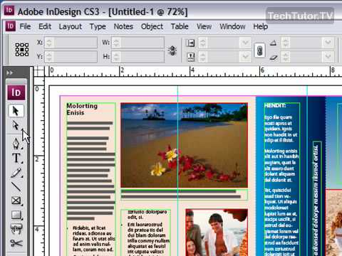 Use the Toolbox in InDesign CS3