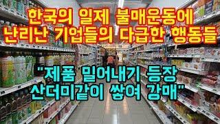 한국의 일제 불매운동에 난리난 기업들의 다급한 행동들
