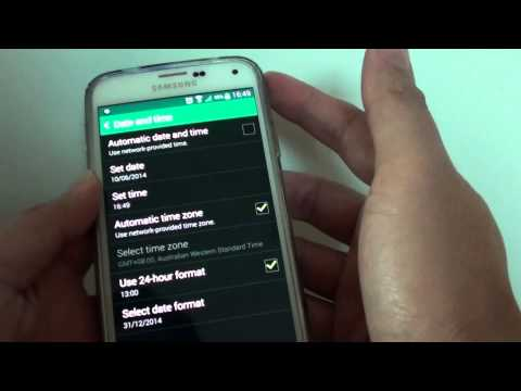 Samusng Galaxy S5: How to Manually Set Date and Time