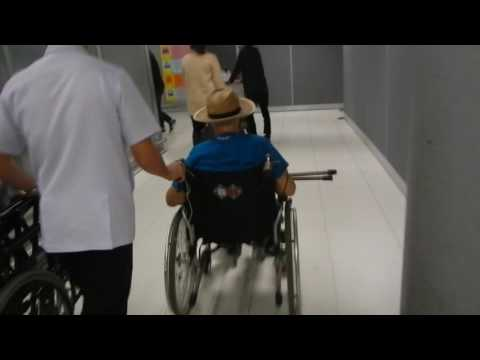 Retired Grandpa Bangkog Airport Wheelchair Assistance Nice Help
