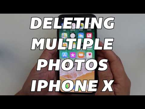 Deleting Multiple Photos On iPhone X