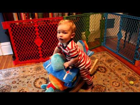 Riding his Airplane Rocker 8-31-12