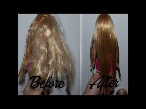 How to fix messy Barbie hair/ straight hair? - Tutorial