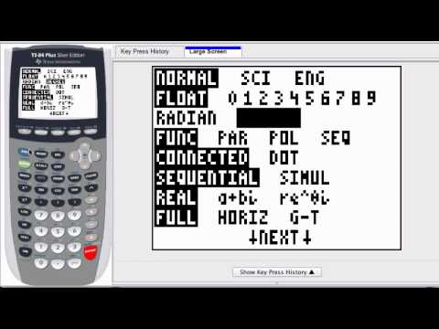 Graphing Calculator - Radian and Degree Conversions