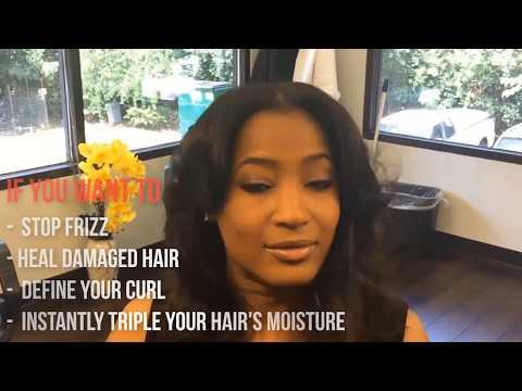Straightening Natural Hair - Natural to Straight Using Silk & Honey Hair Mask