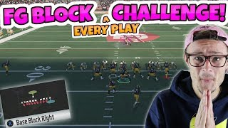 CAN I WIN BY PICKING FIELD GOAL BLOCK EVERY TIME?? EXTREME Madden 18 Online Challenge