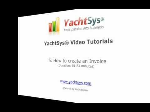 5. How to Create a Proforma or Invoice in YachtSys®
