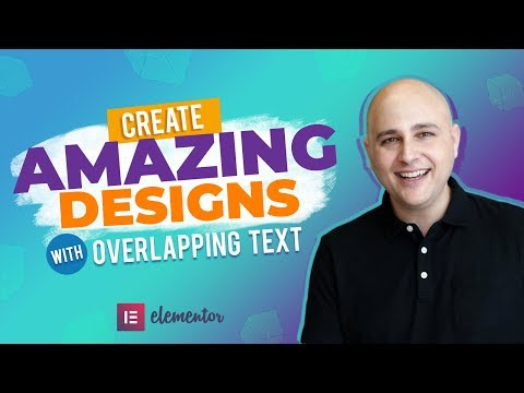 Create Amazing Chic WordPress Website Designs With Overlapping Text - Elementor Tutorial