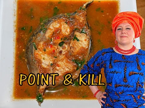 Oyinbo Cooking:Nigerian Point & Kill Catfish Pepper Soup! Spicy Fish Delicacy for Spicy Food Lovers!