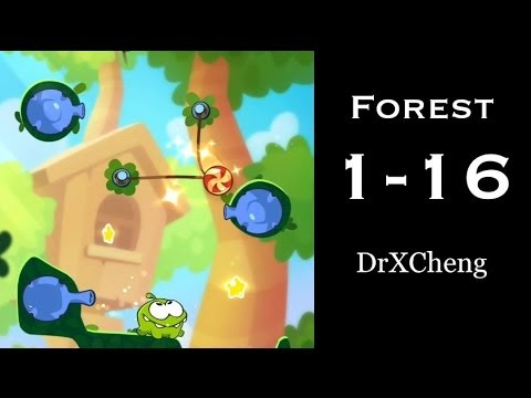 Cut the Rope 2 Walkthrough - Forest 1-16 - 3 Stars + Medal [HD]