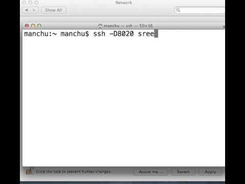 Socks proxy on a Mac through SSH Dynamic Port Forwarding