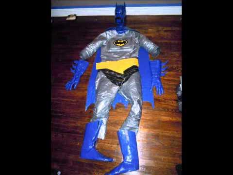 Batman duct tape halloween costume