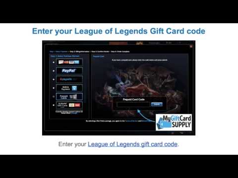 How to Redeem a League of Legends Riot Gift Card