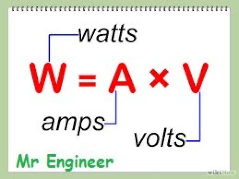 Dc Watts Calculation In Urdu/Hindi