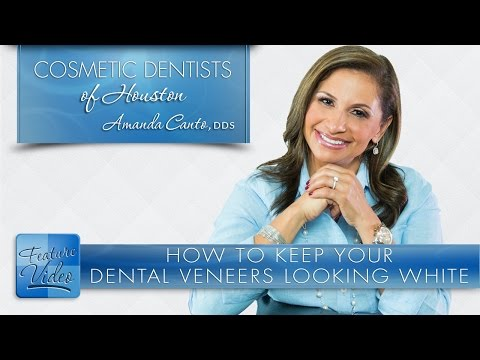 How to Keep Your Dental Veneers Looking White -­ Cosmetic Dentists of Houston