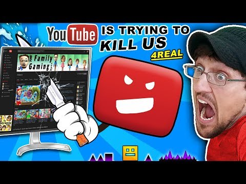 YOUTUBE TRYING TO HARM OUR CHANNEL! FGTEEV vs. Troll @ Google HQ CONSPIRACY!! GEOMETRY DASH & ROBLOX