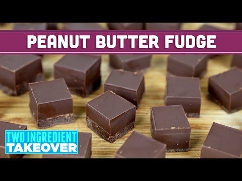 Two Ingredient Chocolate Peanut Butter Fudge (Vegan Friendly!) | - Mind Over Munch