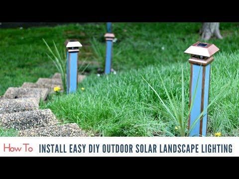Installing Easy DIY Outdoor Solar Landscape Lighting