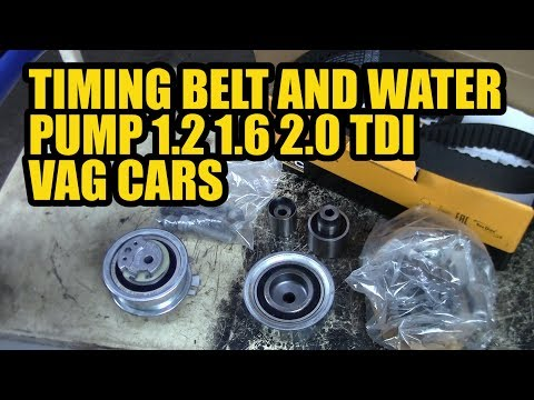 How to replace a timing belt and water pump  1.2 1.6 2.0 TDI VAG VW SKODA AUDI