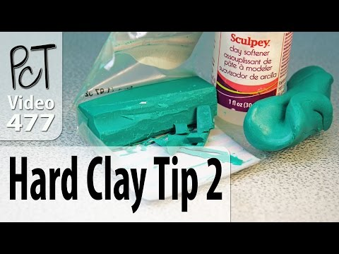Conditioning Hard Polymer Clay Tip #2 - Adding Oil