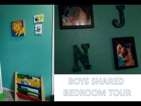 BOYS SHARED BEDROOM TOUR! [2-year-old and 4-year-old]