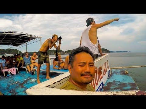 Cheap Halong Bay Boat Day Trip : Cat Ba Island Has No Electricity : SE Asia Travel Vlog #09