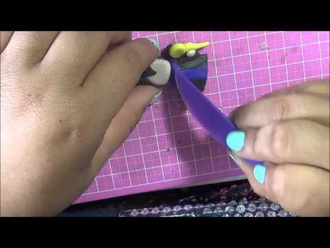 Maleficent clay DIY