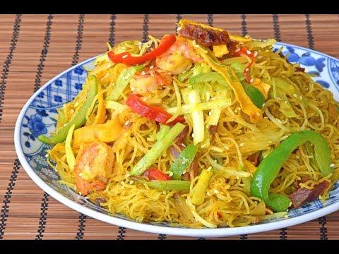 'Singapore' Rice Noodles, a Hong Kong Classic - How to Fry Singapore Rice Noodles (星洲炒米)