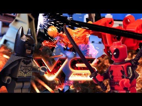 LEGO DEADPOOL VS BATMAN MECH BATTLE