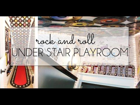 Under Stair Playroom Reveal