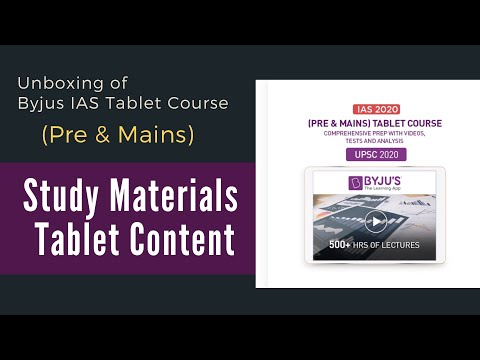 Download BYJU'S IAS TABLET UNBOXING and Study Materials