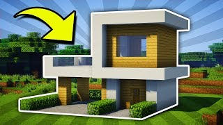 Minecraft Small Modern House Tutorial 12 Pc Xboxone Ps4 Pe