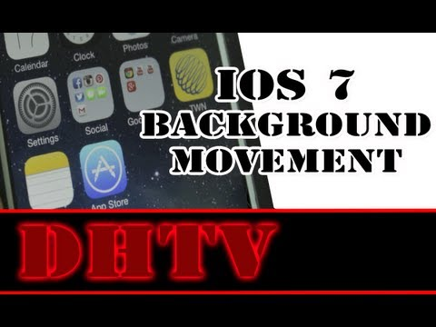 iPhone 5s, 5c iOS 7 Parallax Background - How To Disable Moving Background and Save Battery Life