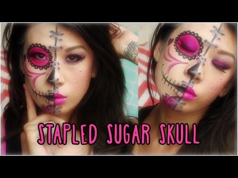 Stapled Sugar Skull Face Paint