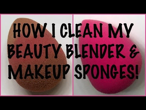 How I Clean My Beauty Blender + Makeup Sponges | sheilabere ♡