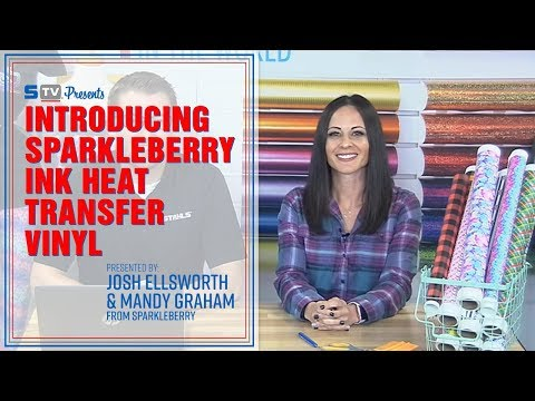 Introducing SparkleBerry Ink Heat Transfer Vinyl