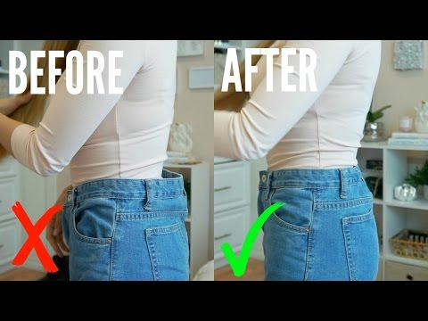 HOW TO: EASILY DOWNSIZE WAIST OF JEANS | NO SEWING