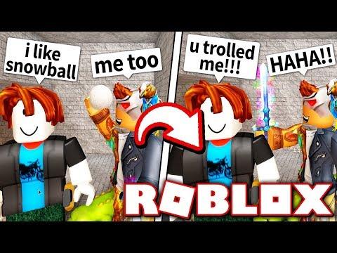 FAKE SNOWBALL KNIFE TROLL!! *FOOLED!* (Roblox Murder Mystery X)