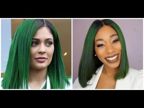Kylie Jenner  GREEN HAIR TUTORIAL-ChimereNicole