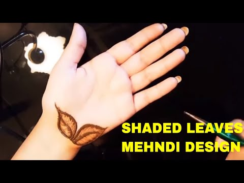 Shaded Mehndi Design Tutorial|| learn how to make shaded leaves with mehndi