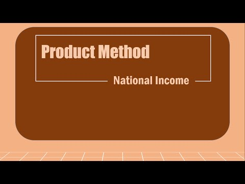 Product Method - National Income