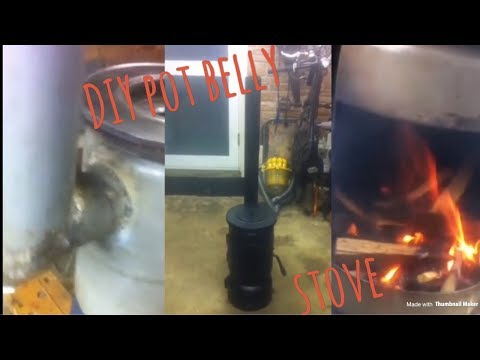 how to make a pot belly wood/log burning stove