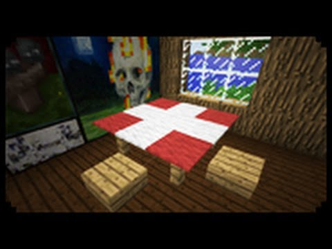 ✔ Minecraft: How to make a table (Using carpet)