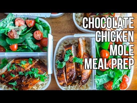 Healthy Chocolate Chicken Mole Bodybuilding Meal Prep Hack / Pollo con Mole Mexicano