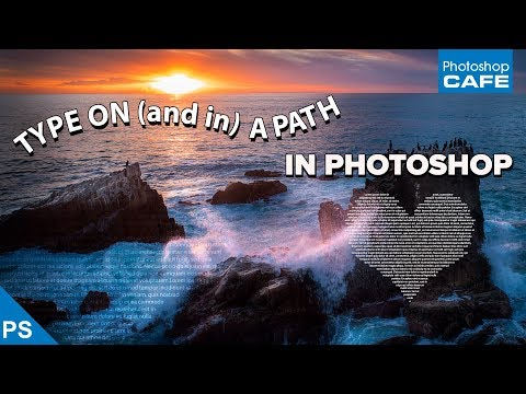 How to MAKE  SHAPES with TEXT + Type on a PATH in PHOTOSHOP