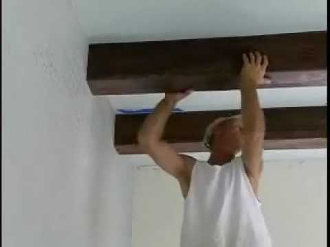 How to Install Faux Ceiling Beams