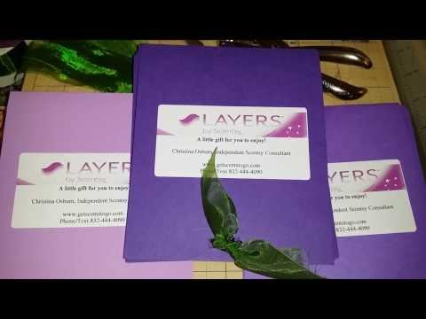 How to make Layers by Scentsy Samples