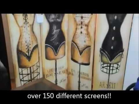 Room Dividers art print folding screens
